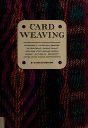 Card weaving.