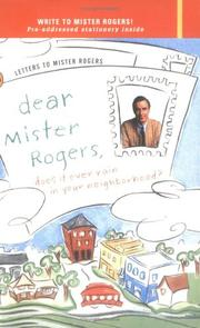 Cover of: Dear Mister Rogers