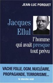 Cover of: Jacques Ellul
