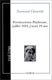 Cover of: Provincetown Playhouse, Juillet 1919, J'avais 19 ans