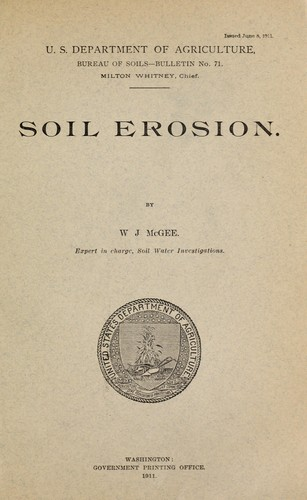 Soil erosion by W J McGee