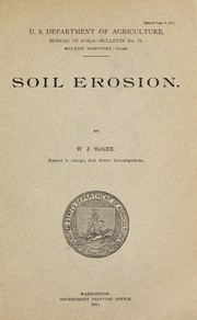 Cover of: Soil erosion | W J McGee