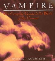 Cover of: Vampire by Manuela Dunn Mascetti
