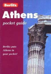 Cover of: Berlitz Athens Pocket Guide