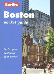 Cover of: Berlitz Boston Pocket Guide | Fred Mawer
