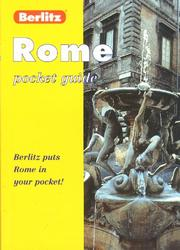 Cover of: Berlitz Rome Pocket Guide