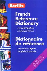 Cover of: French Reference Dictionary | Helene Gutman