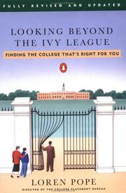 Cover of: Looking beyond the Ivy League