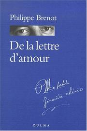 Cover of: De la lettre d'amour
