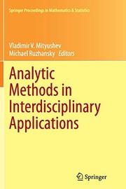 Cover of: Analytic Methods in Interdisciplinary Applications