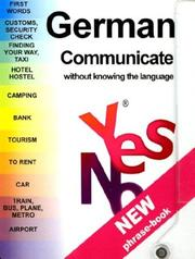 Cover of: Yes No German Phrase Book | Francois-Rene Charles