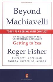 Cover of: Beyond Machiavelli : tools for coping with conflict