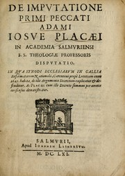 Cover of: De imputatione primi peccati Adami | Josué de La Place