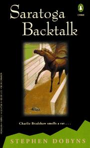 Cover of: Saratoga Backtalk: A Charlie Bradshaw Mystery