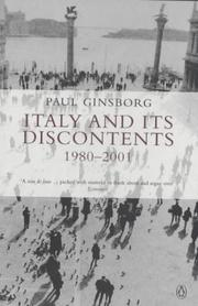 Cover of: Italy and Its Discontents: Family, Civil Society, State: 1980 - 2001