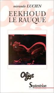 Cover of: Eekhoud le rauque