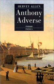 Cover of: Anthony Adverse