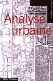 Cover of: Analyse urbaine