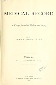 Cover of: Medical record; a journal of medicine and surgery |