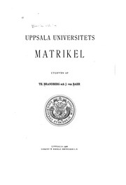 Cover of: Upsala universitets matrikel | Uppsala universitet