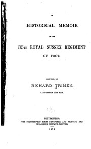 An Historical Memoir of the 35th Royal Sussex Regiment of Foot