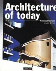 Cover of: Architecture of Today