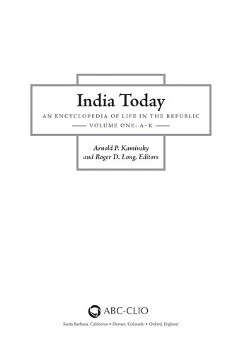 India today by Arnold P. Kaminsky