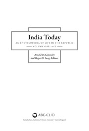 Cover of: India today | Arnold P. Kaminsky