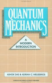 Cover of: Quantum mechanics | Ashok Das