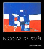 Cover of: De Stael Nicolas