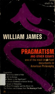 Cover of: Pragmatism by William James