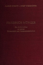 Cover of: Friedrich Münzer | Alfred Kneppe