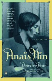 Cover of: Anais Nin
