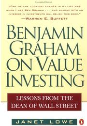 Cover of: Benjamin Graham on Value Investing | Janet Lowe