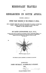 Cover of: Missionary travels and researches in South Africa | David Livingstone