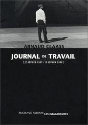 Cover of: Journal de travail