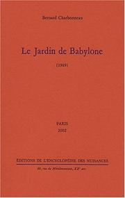 Cover of: Le jardin de Babylone