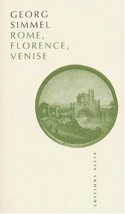 Cover of: Rome, Florence, Venise