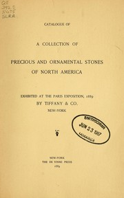 Catalogue of a collection of precious and ornamental stones of North America