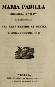 Cover of: Maria Padilla | Gaetano Donizetti