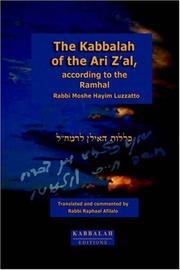 The Kabbalah of the Ari Zal, According to the Ramhal