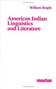 Cover of: American Indian linguistics and literature