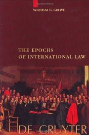 Cover of: The epochs of international law