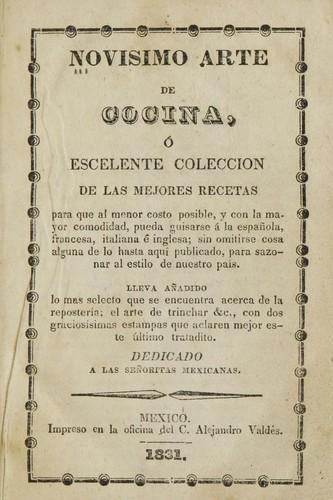 Title page of Novisimo arte de cocina