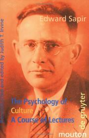 Cover of: The psychology of culture