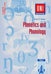 Cover of: Phonetics and Phonology