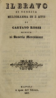 Cover of: Il bravo di Venezia | Saverio Mercadante