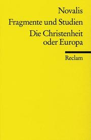 Cover of: Die Christenheit Ober Europa