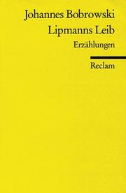 Cover of: Lipmann Leib