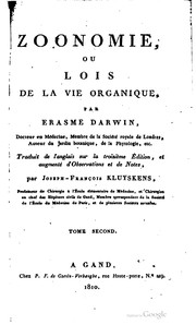 Cover of: Zoonomie | Erasmus Darwin